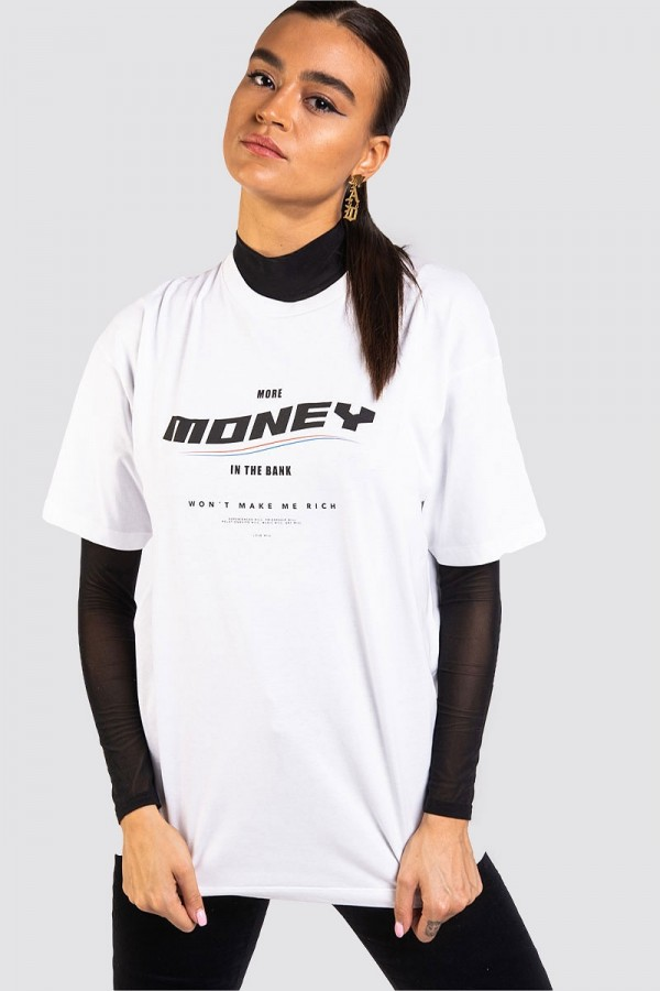 Oversize T-shirt - MONEY White