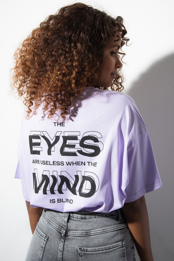 Oversize T-Shirt - The Mind Is Blind Purple