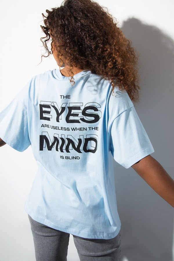 Oversize T-Shirt - The Mind Is Blind Blue