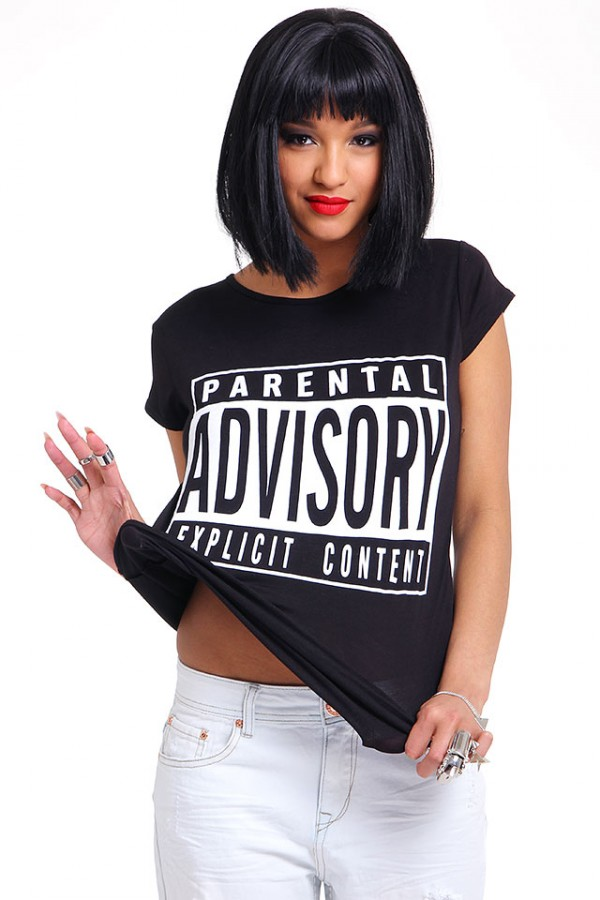 Svart T-Shirt - Parental Advisory