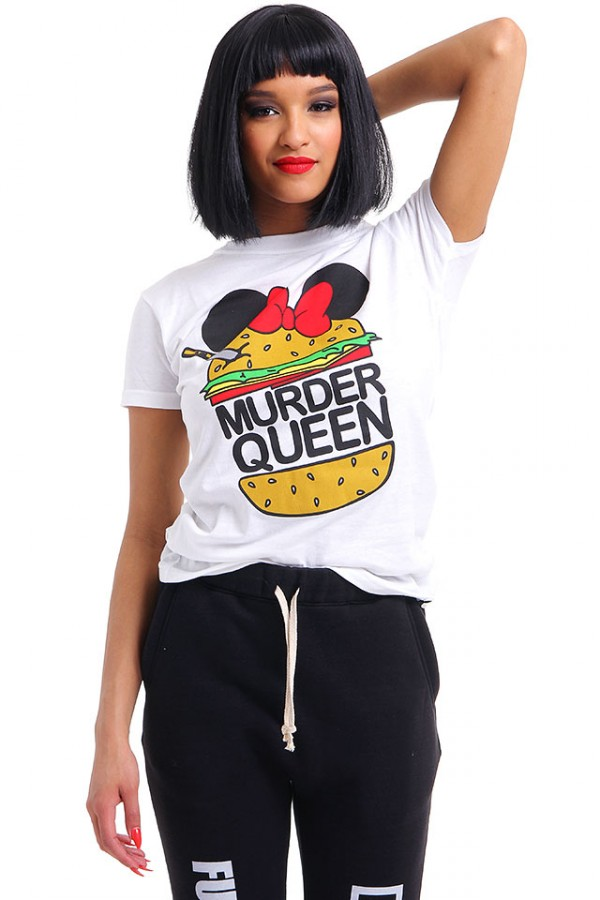 Vit T-Shirt - Murder Queen