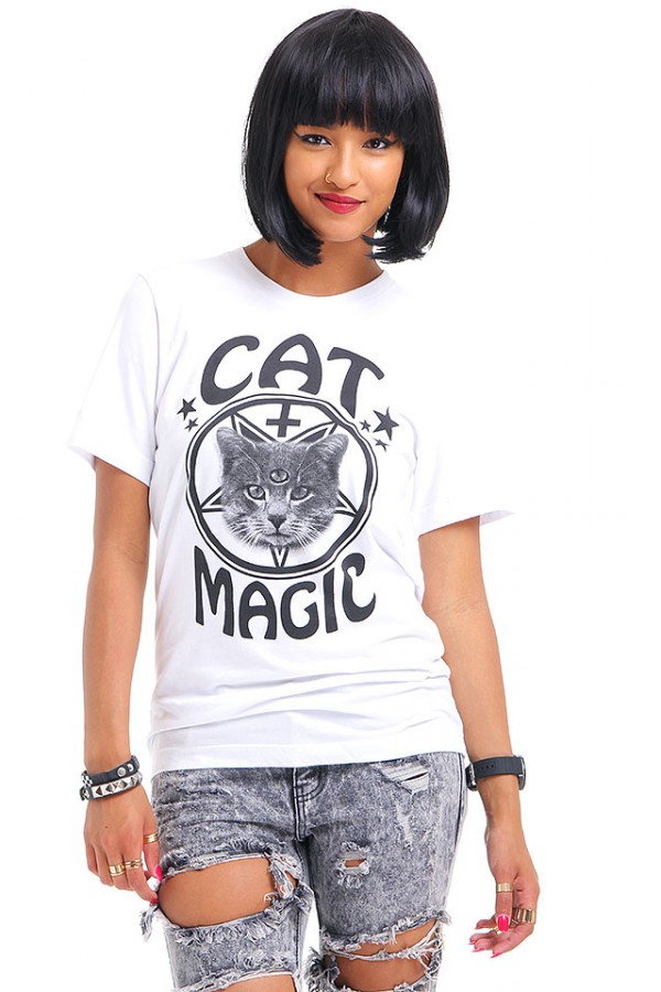 Vit T-Shirt - Cat Magic