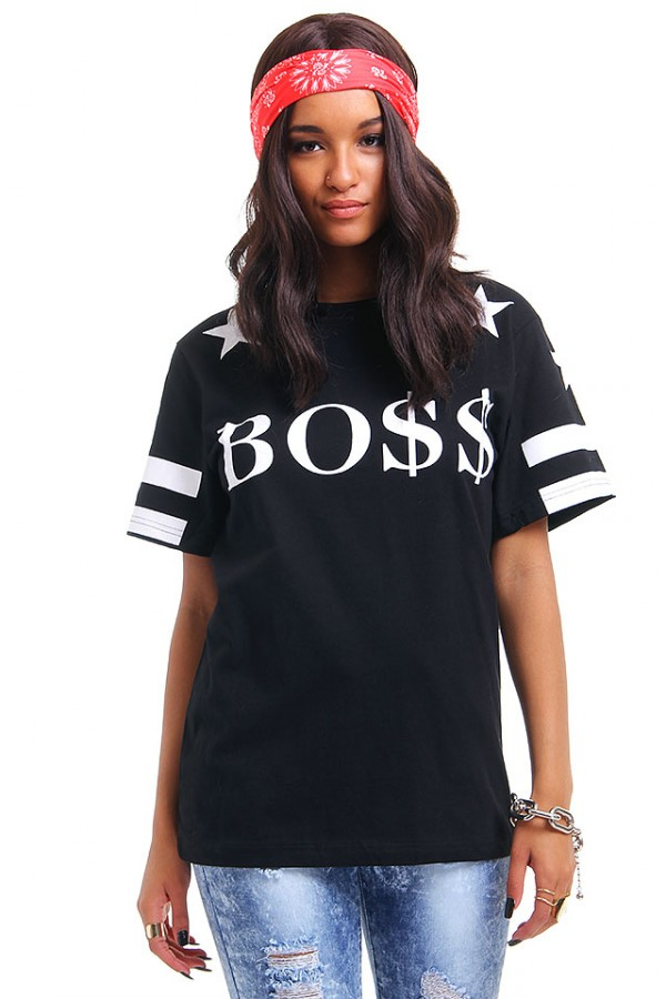 Svart T-Shirt - Star BOSS