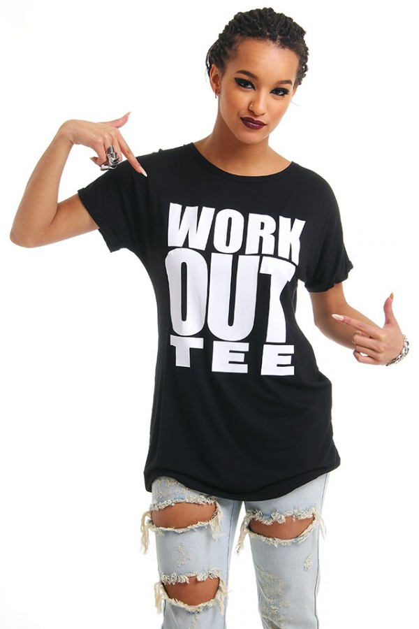 Svart T-Shirt - Work Out