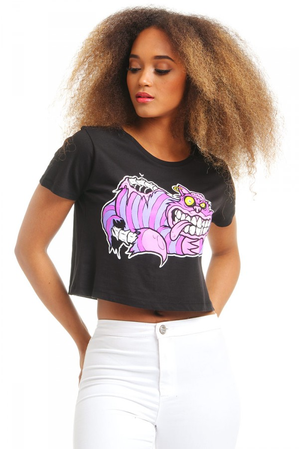 Cropped T-Shirt - Chesire Cat