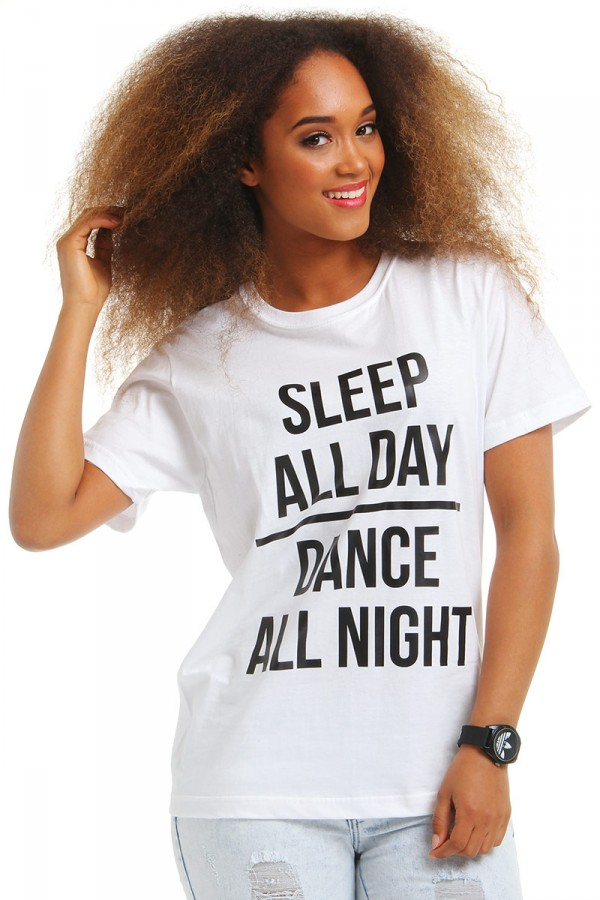 Vit T-Shirt - Sleep All Day, Dance All Night