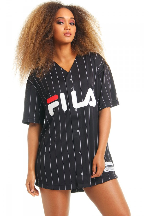 Black T-Shirt King Baseball Fila