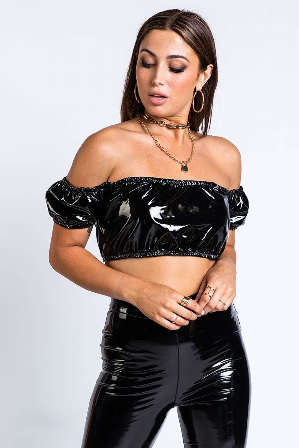 Off Shoulder Topp - All About That Vinyl