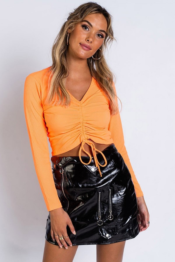 Topp - Scrunch Rib Orange