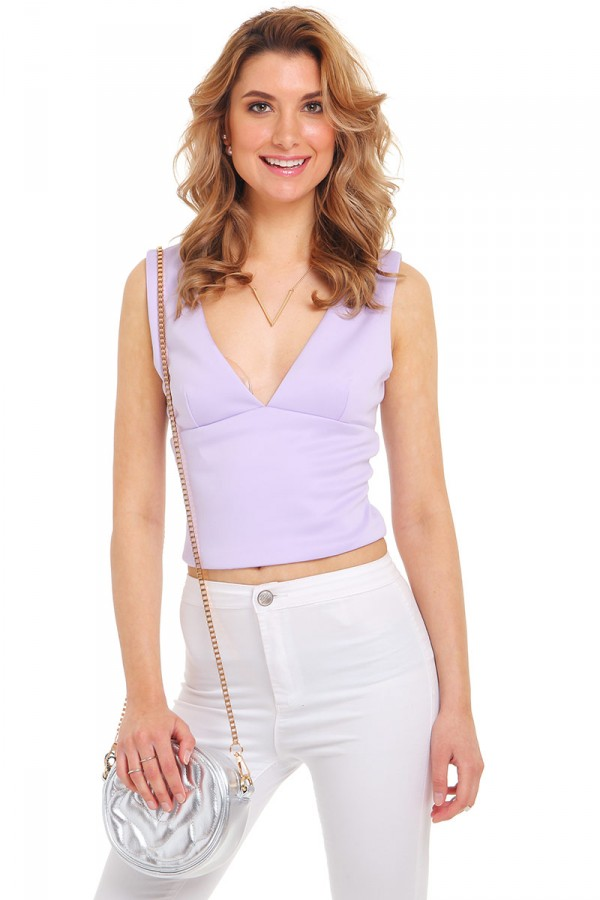 Lila Crop Topp - Sugar