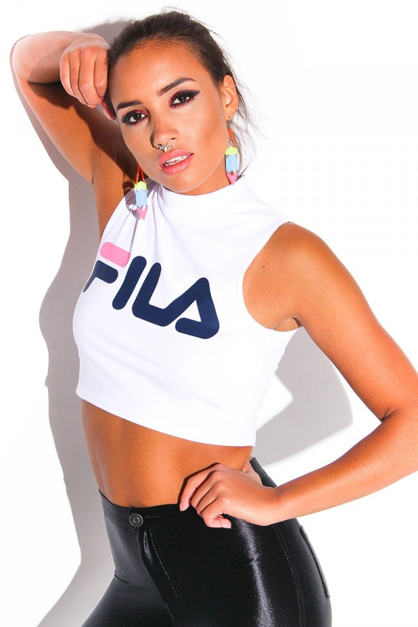 Top - Nena Halter Fila White