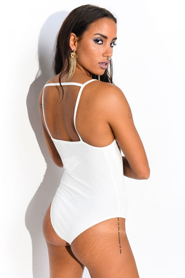 Ribbad Body - White Edwige