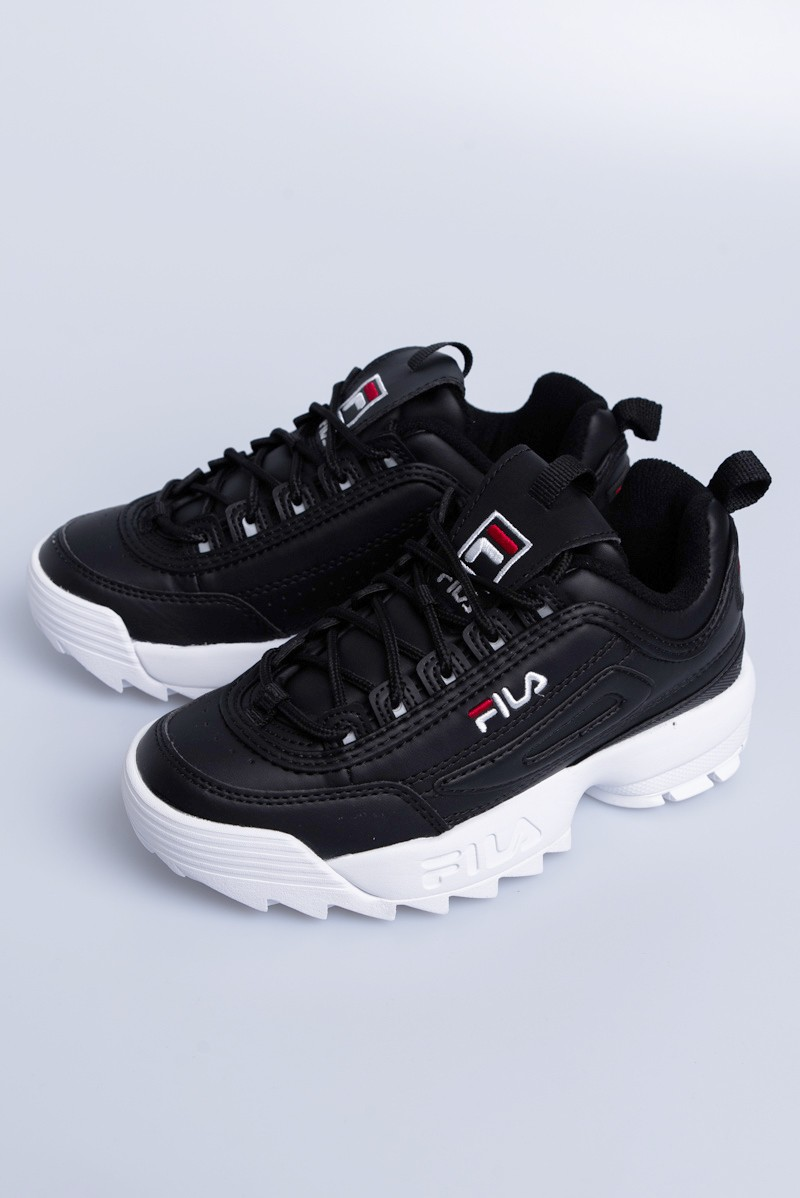 FILA Skor Disruptor Low Black