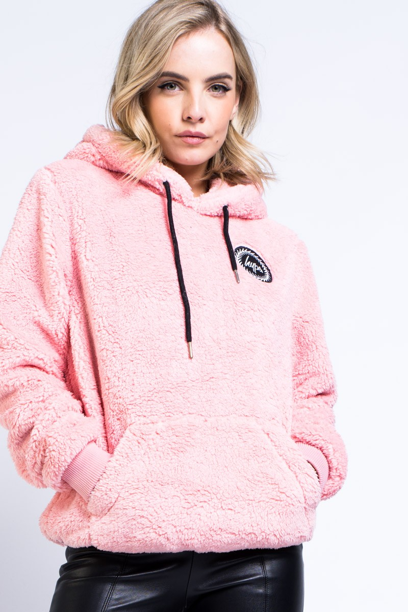 5b2c037e940 se Pullover Sherpa Hoodie Madlady Pink Hype nqZw0nxC1P